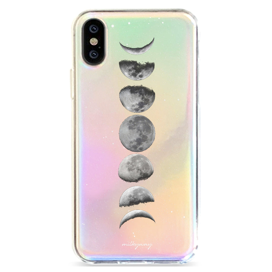 Moon Phase - Holographic iPhone Case