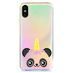 Panda Unicorn - Holographic iPhone Case