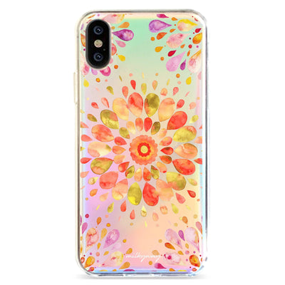 Summer Mandala - Holographic iPhone Case