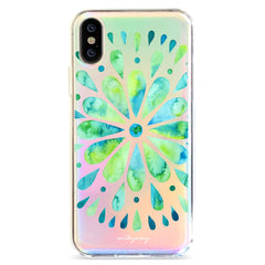 Watercolor Mandala - Holographic iPhone Case