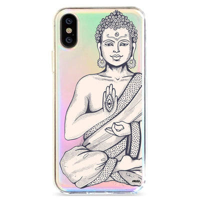 Buddha Hamsa - Holographic iPhone Case