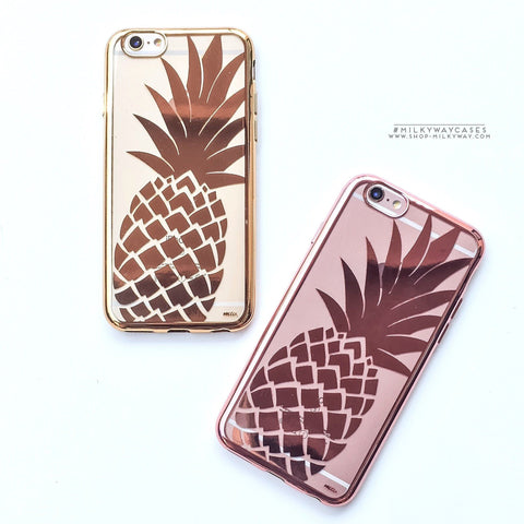 'Gilt Pineapple' - Clear TPU Case Cover