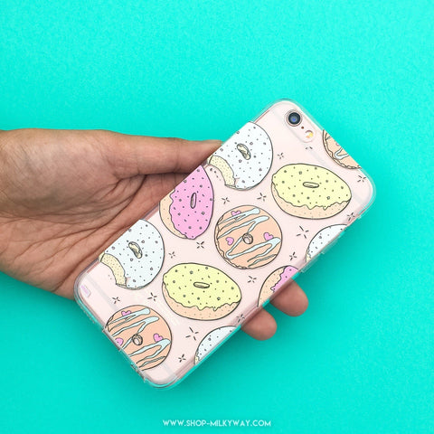 Donut Doughnut  - Clear TPU Case Cover