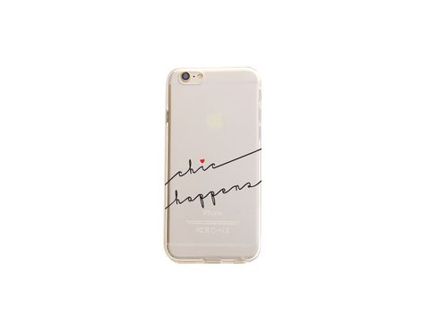 Chic Happens - Clear TPU Case Cover
