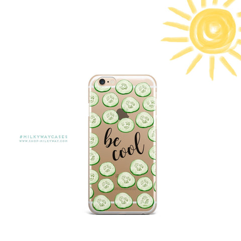 'Be Cool' - Clear TPU Case Cover
