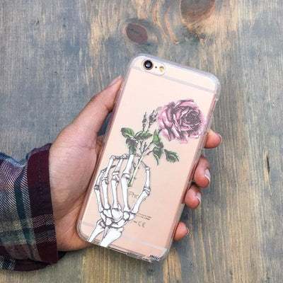 Skeleton Rose Designed iPhone Samsung Case
