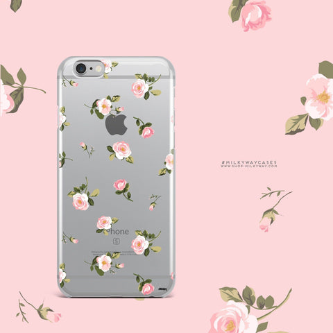 'Blush' - Clear TPU Case Cover
