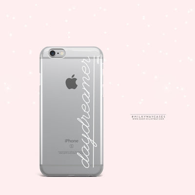 Daydreamer - Clear Case Cover - Milkyway Cases -  iPhone - Samsung - Clear Cut Silicone Phone Case Cover
