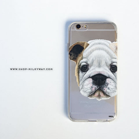 English Bulldog Puppy - Clear TPU Case Cover