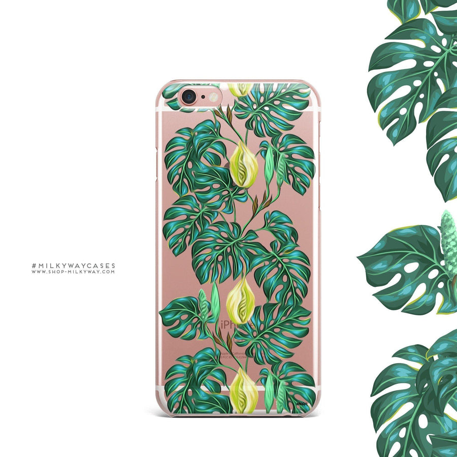Monstera - Clear Case Cover - Milkyway Cases -  iPhone - Samsung - Clear Cut Silicone Phone Case Cover