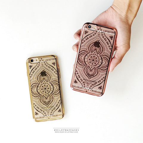 'Gilt Opulent Mandala' - Clear TPU Case Cover