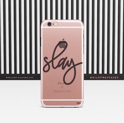 'Simple Slay' - Clear TPU Case Cover