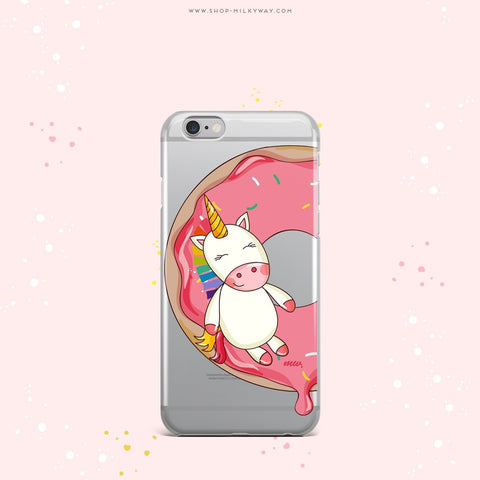 'Unicorn Sprinkles' - Clear TPU Case Cover