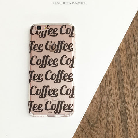 Coffee Coffee Coffee - Clear TPU Case Cover