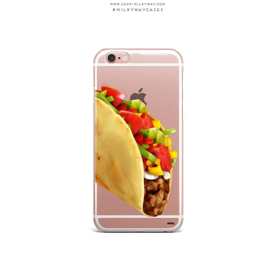 Soft Shell Taco - Clear Case Cover - Milkyway Cases -  iPhone - Samsung - Clear Cut Silicone Phone Case Cover