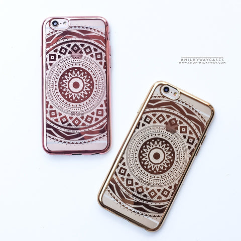 'Gilt Anna Mandala' - Clear TPU Case Cover