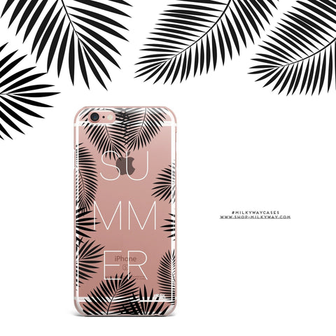 'Summer Leaves' - Clear TPU Case Cover