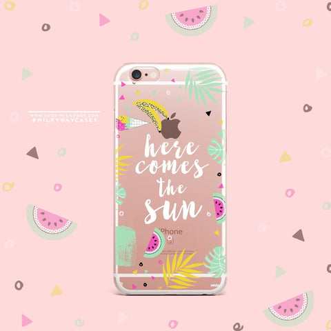 'Here Comes The Sun' - Clear TPU Case Cover