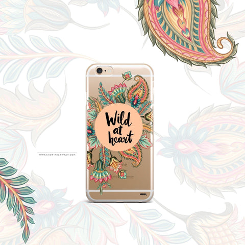 'Wild At Heart' - Clear TPU Case Cover