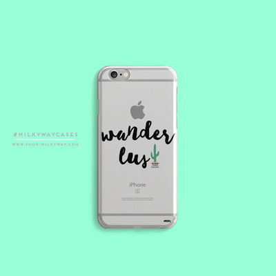 Wanderlust - Clear Case Cover - Milkyway Cases -  iPhone - Samsung - Clear Cut Silicone Phone Case Cover