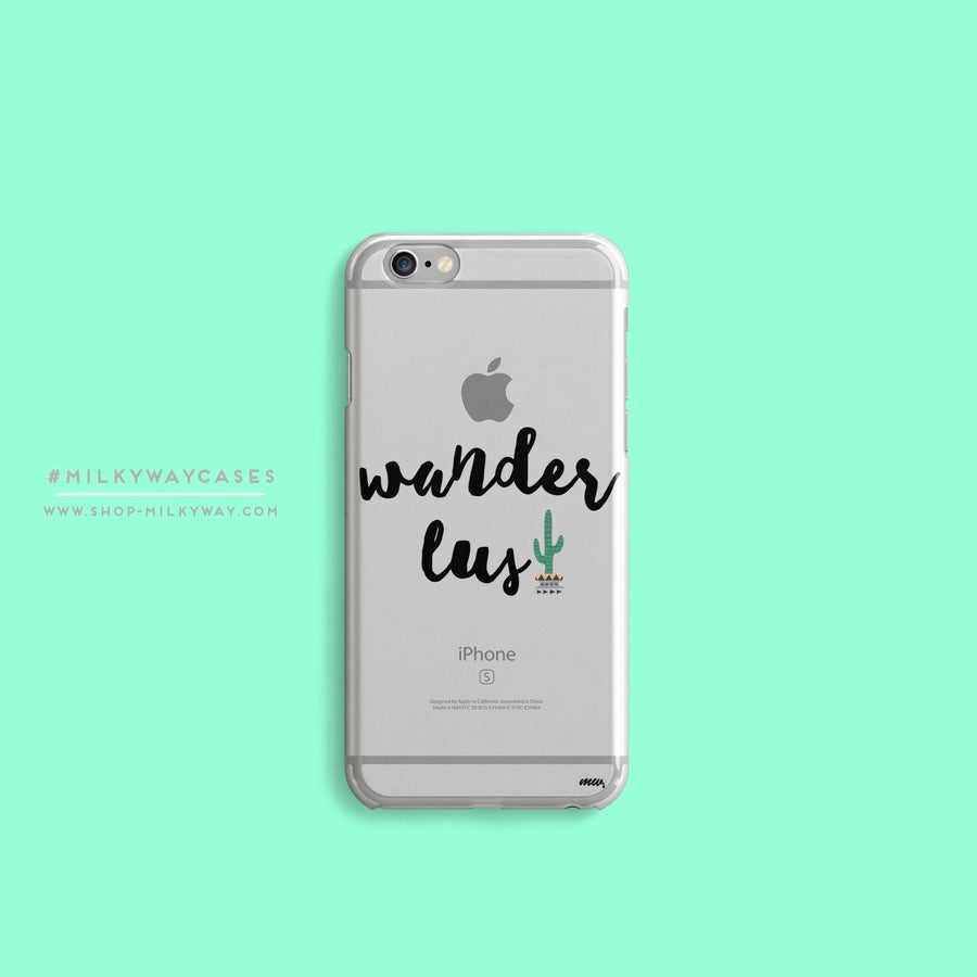 Wanderlust - Clear Case Cover