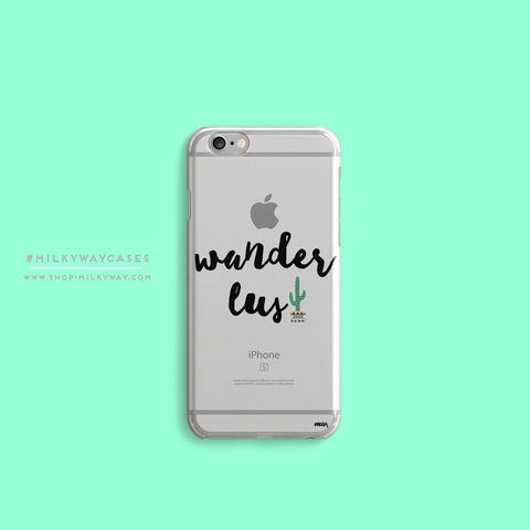 'Wanderlust' - Clear TPU Case Cover