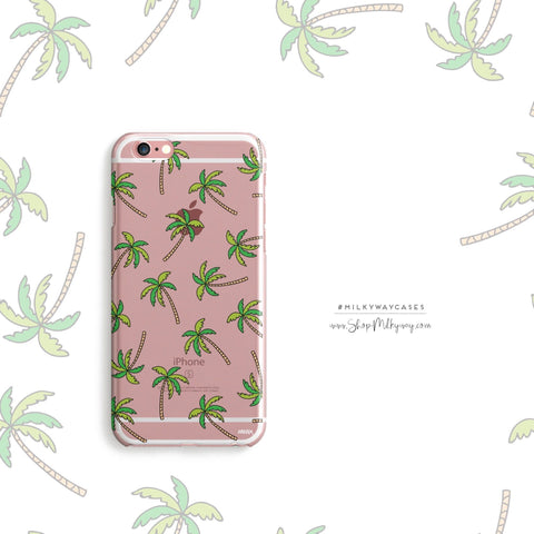 'Aloha Trees' - Clear TPU Case Cover