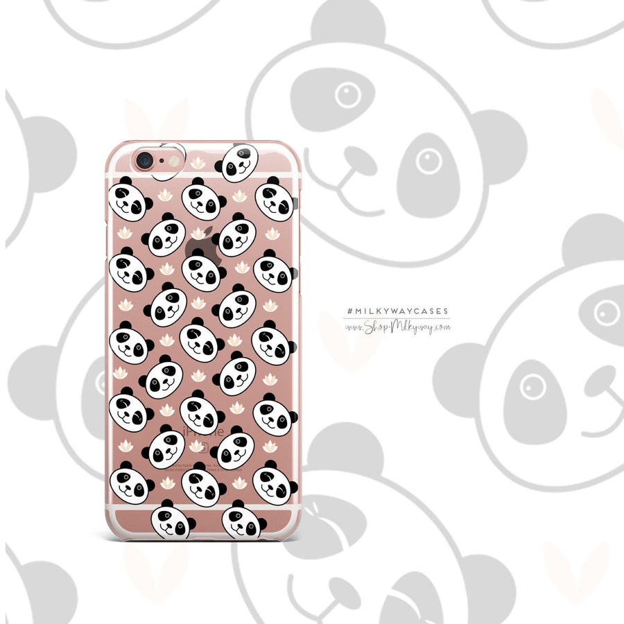 Panda Smiles - Clear Case Cover - Milkyway Cases -  iPhone - Samsung - Clear Cut Silicone Phone Case Cover