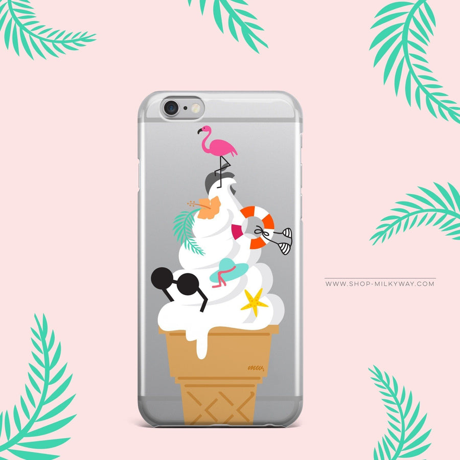 Summer Sundae - Clear Case Cover - Milkyway Cases -  iPhone - Samsung - Clear Cut Silicone Phone Case Cover