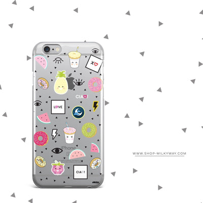 The Patch Case - Clear Case Cover - Milkyway Cases -  iPhone - Samsung - Clear Cut Silicone Phone Case Cover