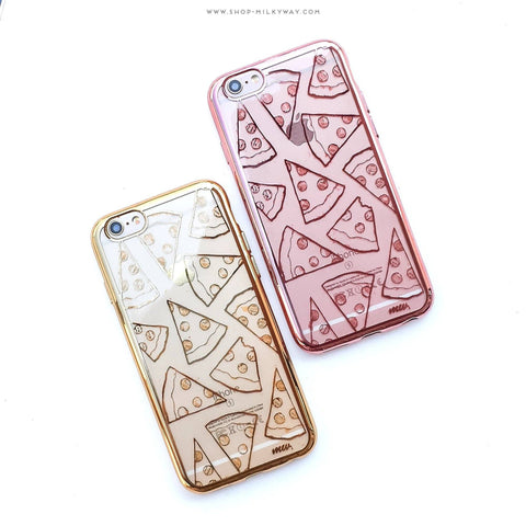 'Gilt Pizza' - Clear TPU Case Cover