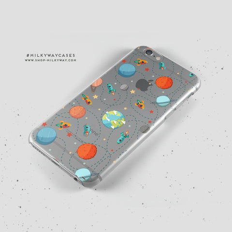 'Space Case' - Clear TPU Case Cover