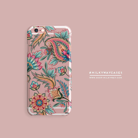 'Lola Paisley' - Clear TPU Case Cover