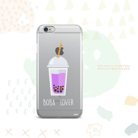 'Boba Lover' - Clear TPU Case Cover