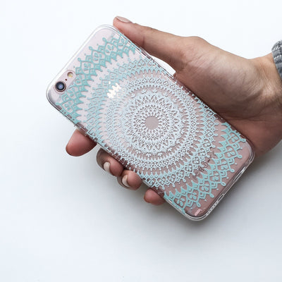 @Okitssteph X Milkyway Cases Gypsy Teal Mandala - Clear Case Cover - Milkyway Cases -  iPhone - Samsung - Clear Cut Silicone Phone Case Cover