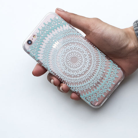 Steph Okits X Milkyway Cases 'Gypsy Teal Mandala' - Clear TPU Case Cover
