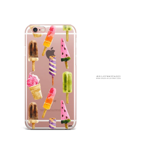'Summer Vibes' - Clear TPU Case Cover