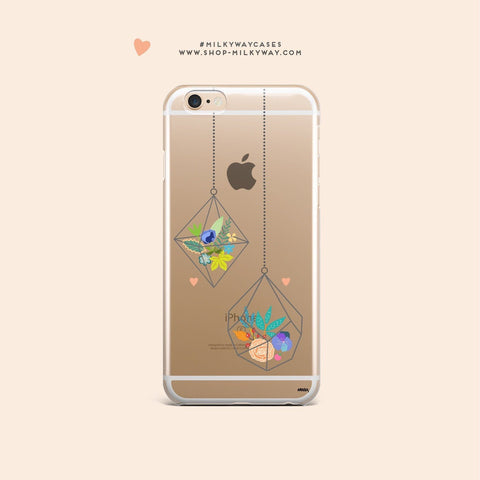 'Terrarium' - Clear TPU Case Cover