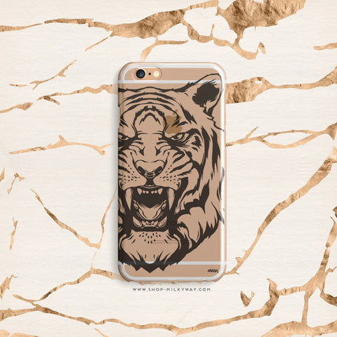 'Tiger' - Clear TPU Case Cover