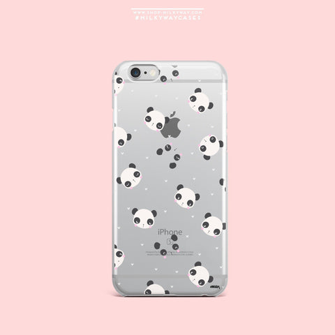 'PANDAmonium' - Clear TPU Case Cover