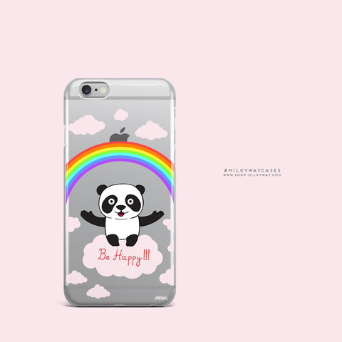 'Be Happy' - Clear TPU Case Cover