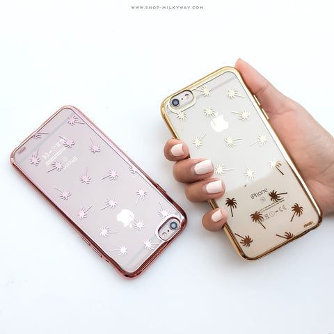 'Gilt Palm Trees' - Clear TPU Case Cover