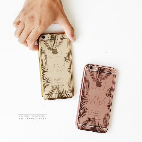 'Gilt Summer Leaves' - Clear TPU Case Cover