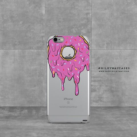 'Gooey Donut' - Clear TPU Case Cover