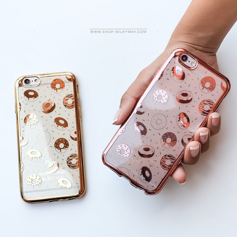 'Gilt Donuts' - Clear TPU Case Cover