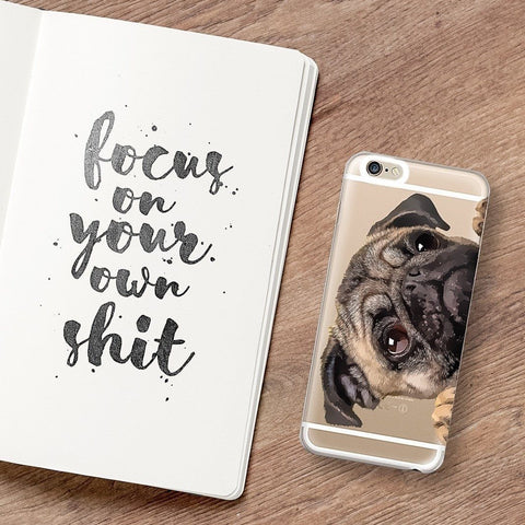 Cry Baby Pug' - Clear TPU Case Cover