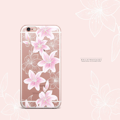 'Lily Beth' - Clear TPU Case Cover