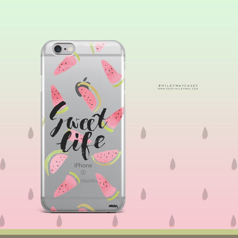 'Sweet Life' - Clear TPU Case Cover