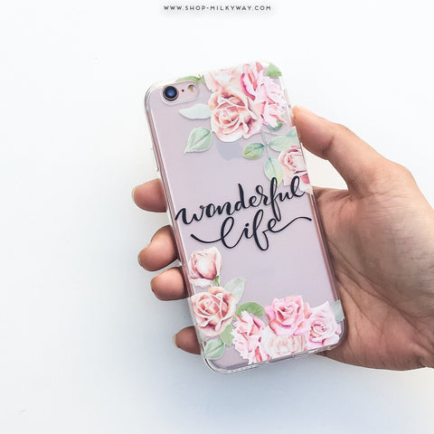 Wonderful Life  - Clear TPU Case Cover