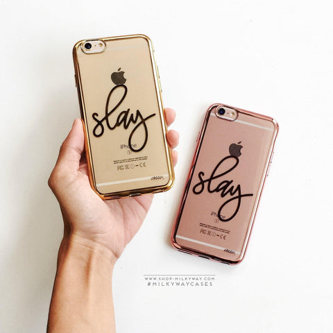 'Gilt Slay' - Clear TPU Case Cover